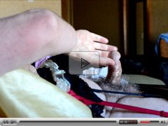 Sissy Ray Shooting a load of sperm 3