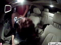 Drunk European amateur seduces a taxi driver