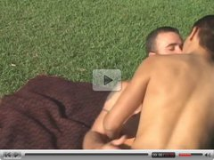 MMF Bisexual Threesome Outdoors