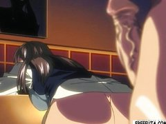 Tied up hentai girl gets fucked by shemale