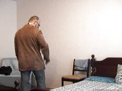 Old hairy man fucks boy