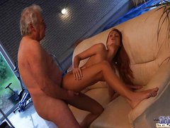 Old grandpa fucked by young Erica