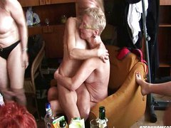 Hardcore mature home orgy party