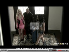 Brazzers - Hot & mean brunette lesbian punishes blonde wife