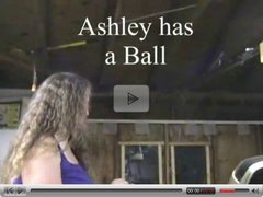 BBW Ashley cums on ball hitch