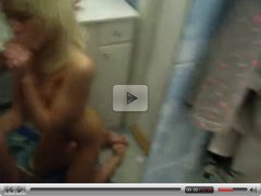 After night club - bathroom - BJ and fingering