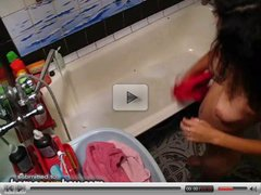 Russian amateur girl in bath 1