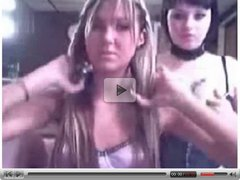 Three horny teen friends have webcam party