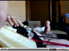 Sissy Ray Shooting a load of sperm in hotel room