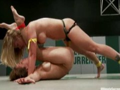 Loser of female wrestling gets fucked