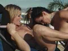 Two hot women having fun in the sun