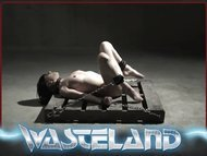 Wasteland BDSM Sex Master Ties Sex Slave Nyssa To Bamboo for Electro-pussy