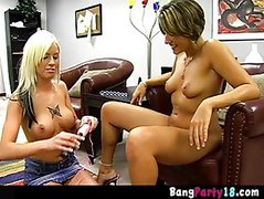 Eva and Tricia love the sex toys