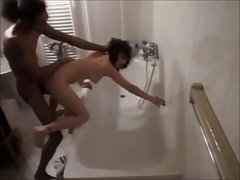 brunette wife caught cheating on hidden cam with black guy