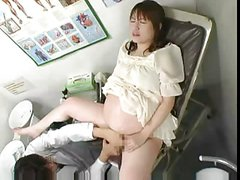 Pregnant Japanese getting fucked by the Doctor in 9th month