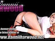 Hot schoolgirl slut Dannii Harwood strips off for a detention wank
