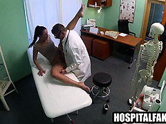 MILF patient sucks cock and gets fucked by her doctor
