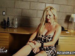 Awesome blonde show her awesome body part2