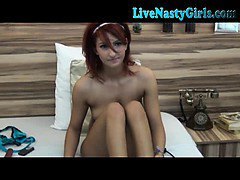 Hot Redhead Webcam Girl Plays With Toy 2
