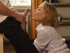 Busty amateur gets fingered and licked after hot blowjob