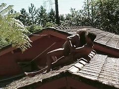 Hot Anal Sex on the Roof of the house