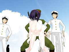 MMD Girl fucked by Navy men