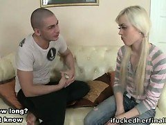 Blonde chick fucked hard in her ass.