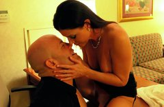 Mind blowing brunette skank India Summer is owned by Derrick Pierce
