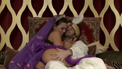 Blessed Sultan throat fucks one of his harem girls