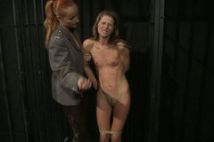 Blonde whore gets brutally punished in rough BDSM way