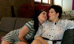 Lesbian sex between mom and her daughter