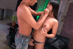 Sexy Japanese whore Eririka Katagiri gets her swollen nipples sucked