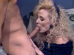Magnetic blondie in black stockings gets her pussy eaten out properly