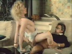 Blond retro babe with super hairy pussy gets eaten ad fucked hard