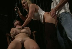 Two kinky and slutty chicks got fucked hard in the dark room