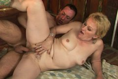 Sex-starved grannie gets her hairy pussy fucked hard and deep