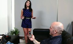 Skilled cock sucker Adriana Chechik shows off her talent to Derrick Pierce