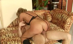 Sex-starved mature woman rides on cock like a real cowgirl