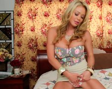 Mesmerizing blond filth Mia Lelani is a great pro in giving a solid blowjob