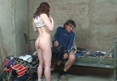 Spoiled curvy milf Kristina gives a head to messy biker before riding his dick