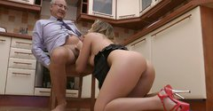Horny chick Olivya is riding hard dick actively