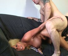 Zealous and kinky blondie turns doggy fuck into a long lasting dick ride