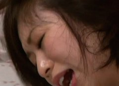 Voracious Japanese trollop YUUKA TSUBASA is banged bad in a double penetration action