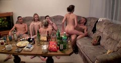 Russian nude student girls go wild after midnight party