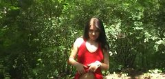 Outdoor  pussy masturbation by sex insane  bitch Zuzinka
