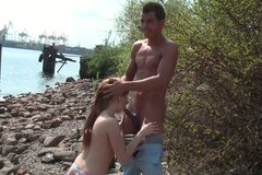 Spoiled redhead Kveta is going kinky in the open air