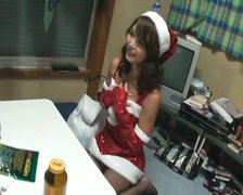 Private X-mas party for Megumi Shino turns into passionate sex