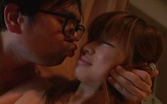 Hairy punani of Japanese hussy Ami Hyuuga gets eaten zealously