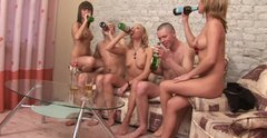 Drunk sex party ending with drunk sex orgy