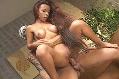 Zesty latina babe Sol De Verao riding huge fat cock